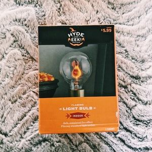 Unused Hyde & Eek! Boutique Flaming Light Bulb